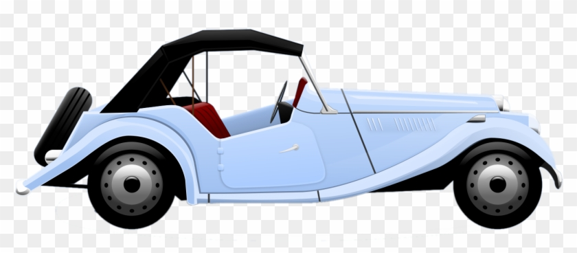 Blue Car Clipart Old Fashioned Car - Vintage Cars Clip Art Free #12463