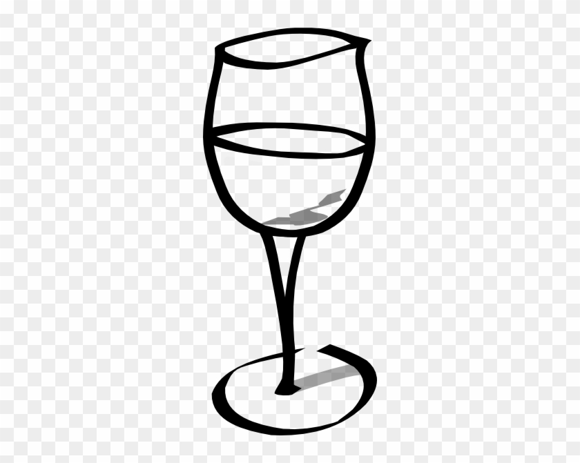 Empty Wine Glass Clip Art At Clker - Wine Glass Clip Art #12470