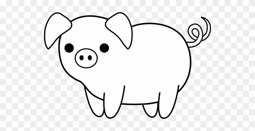 Pig Clip Art In Black And White Pigs Clipart Black - Black And White Clip Art Of Of Pig #12510