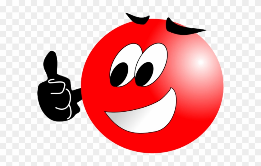 Red Smiley Face Clip Art - Red Smiley Face Png #12495