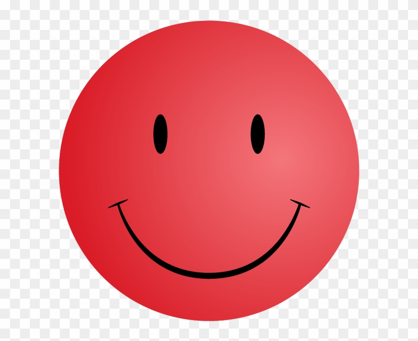 Red Smiley Clipart - Smiley Face Red #12503