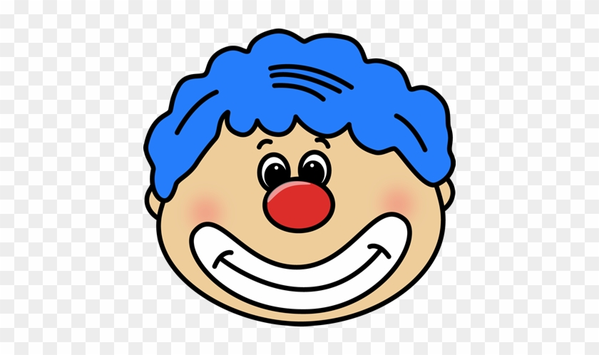 Circus Clown Face Clip Art - Circus Clown Face Clipart #12505