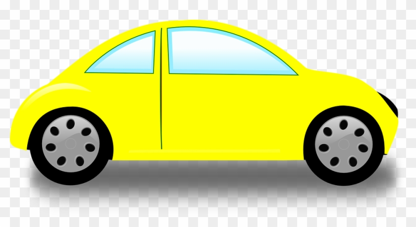Free Car Clipart Vw Beetle Volkswagen Car Free Vector - Clip Art Yellow Car #12501