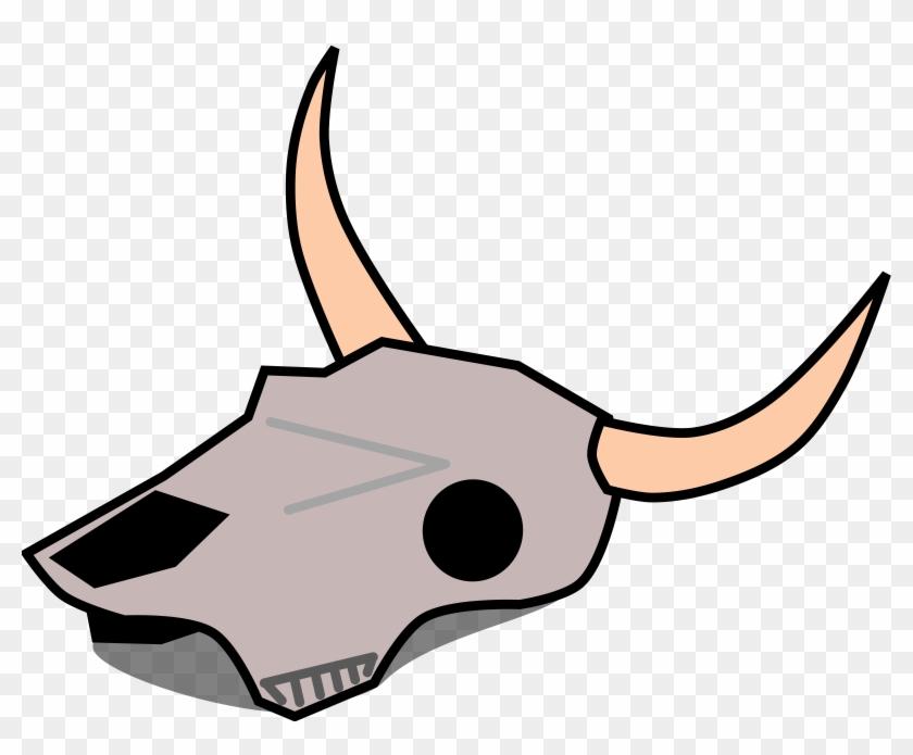 Cow Skull Clip Art - Cow Skull Clipart #12509