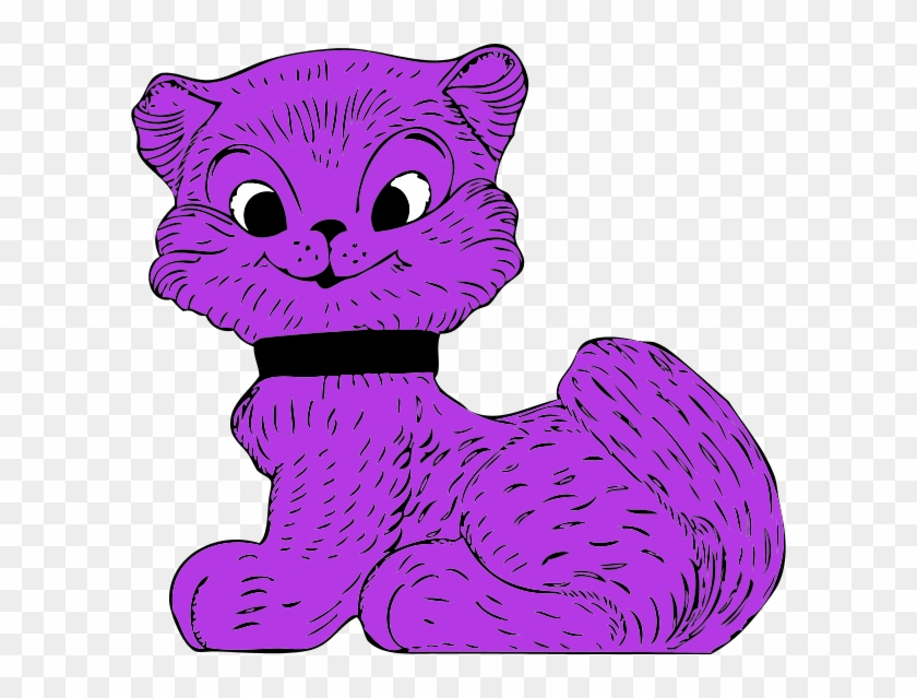 Purple Cat Clipart Cartoon Free Download Clip Art On - Purple Cat Clip Art #12516