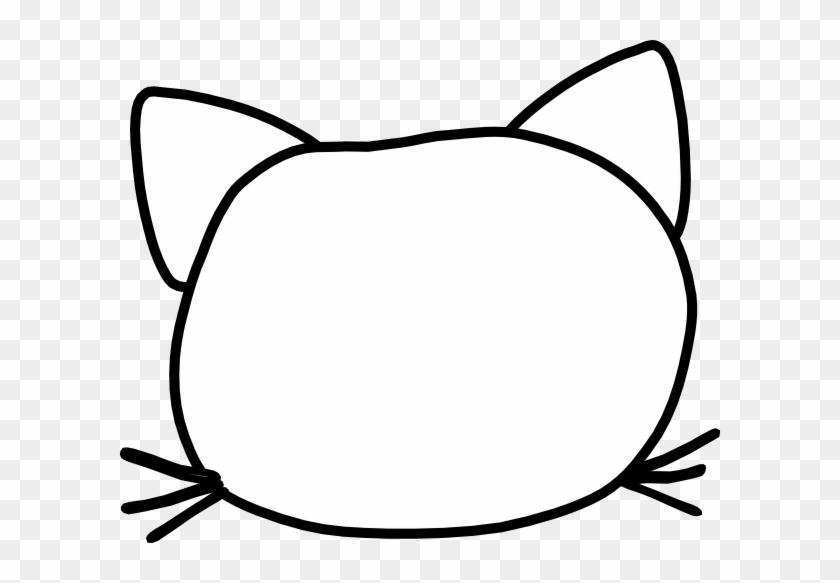 Cat - Cartoon Cat Face Outline #12525