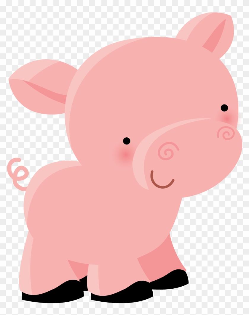 Cute Pig Clipart - Dibujos Animales De La Granja Png #12541