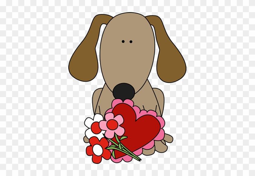 Valentine's Day Dog - Dog Valentine Clip Art #12548
