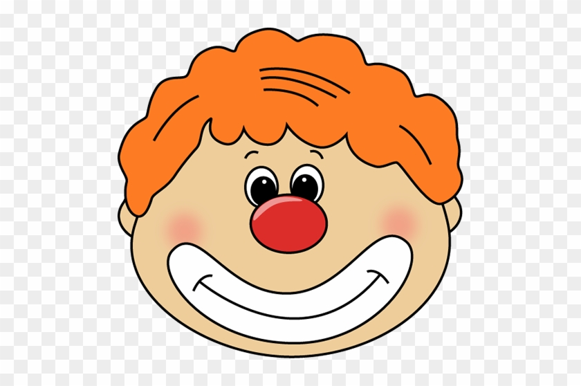 Clown Face - Clown Red Nose Clipart #12553