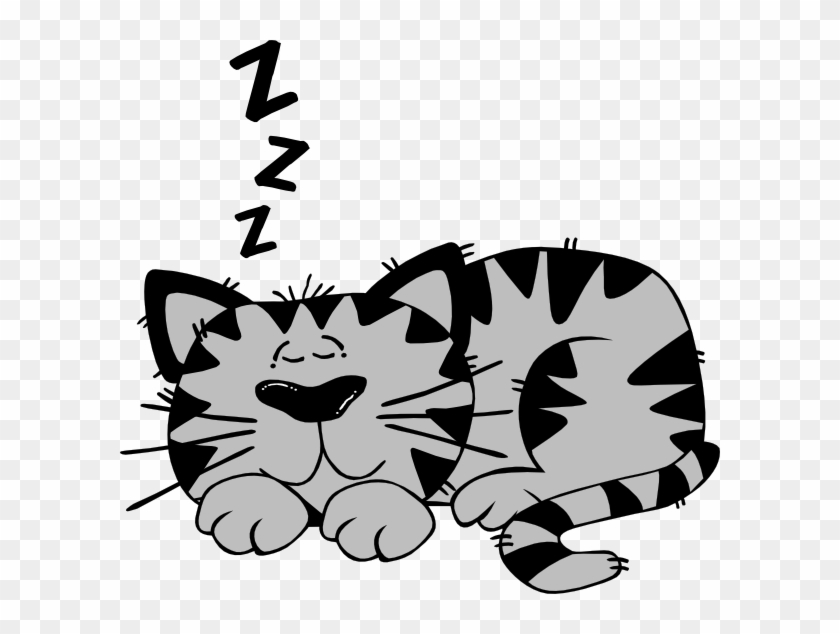 Sleeping Cat Clipart #12551