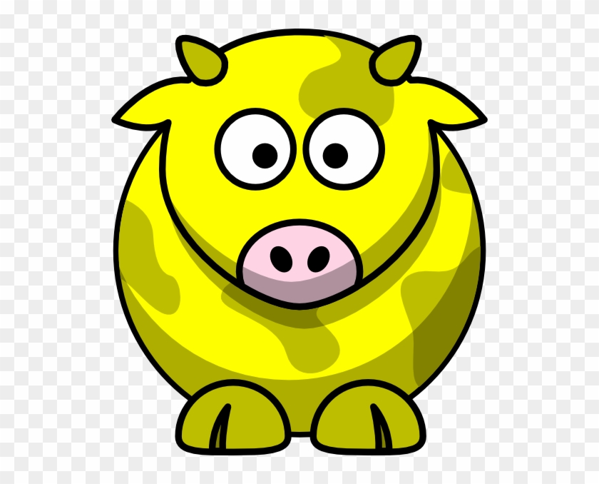 Yellow Cow 2 Clip Art - Draw Cartoon Cow #12564