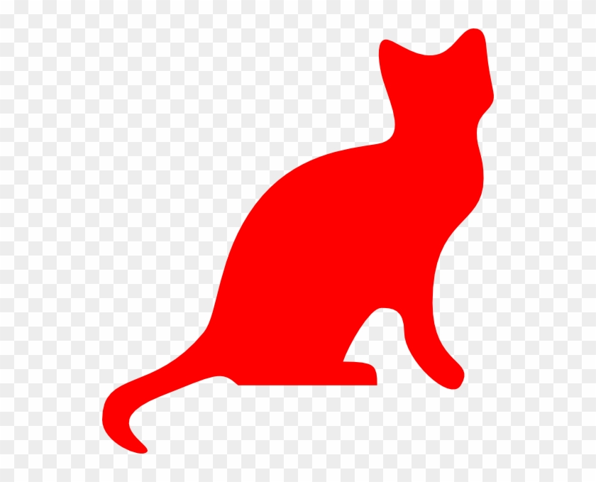 Red Cat Silhouette Clip Art At Clker - Red Cat Silhouette #12574