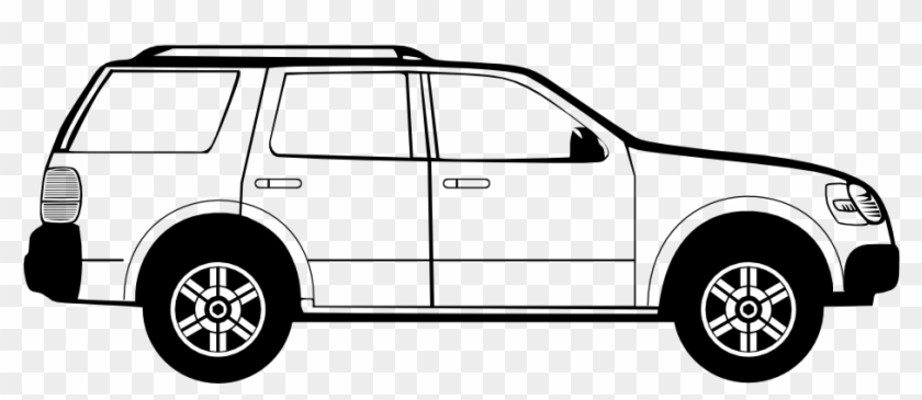 Car Clipart Side View Png Pencil And In Color - Car Side View Vector #12582