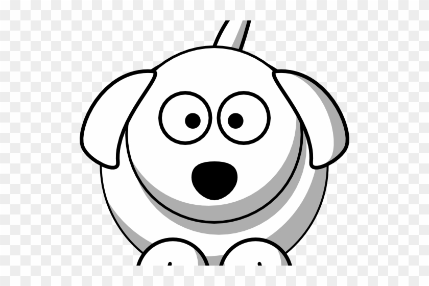Happy Dog Face Clip Art Boxer Dog Face - Black And White Dog Cartoon #12604