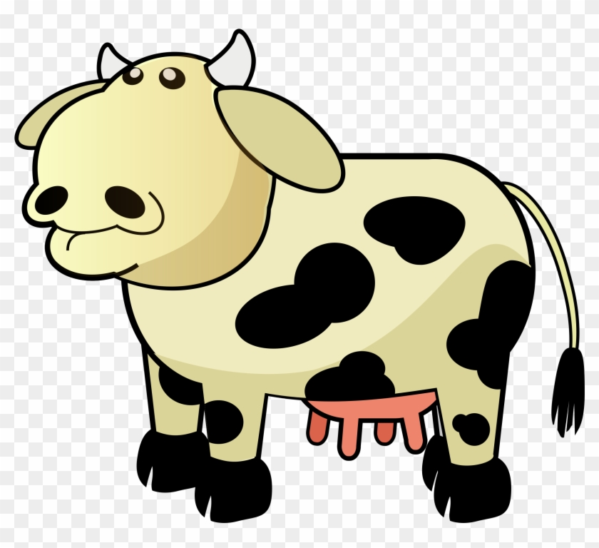 Cow Clip Art - Cow Udder Clip Art #12624