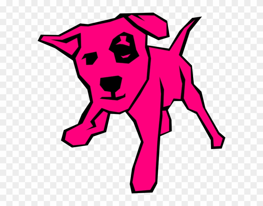 Pink Dog Clip Art At Clker - Dog Clip Art #12639