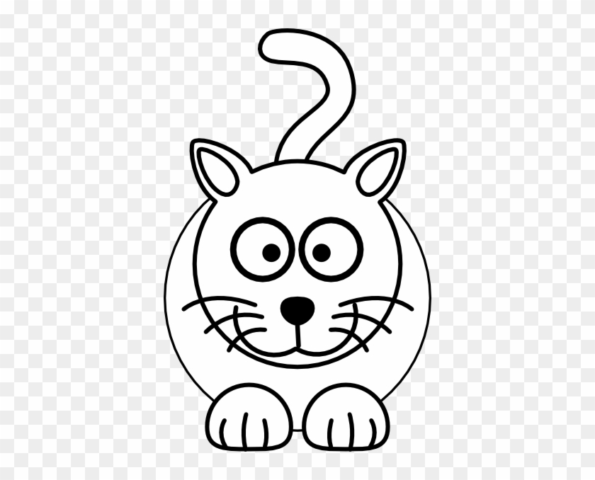 Clipart Info - Black And White Cartoon Cats #12640