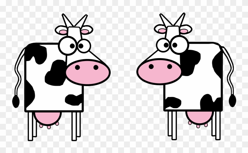 Baby Cow Clipart - Big-eyed Cartoon Cow Shower Curtain #12652