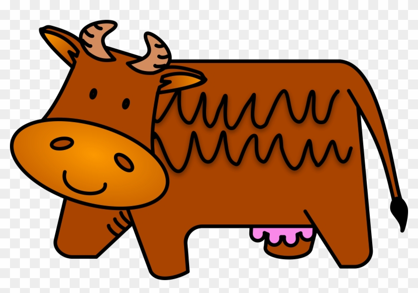 Clip Arts Related To - Brown Cow Clipart #12670