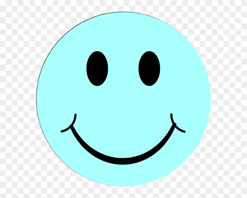Blue Smiley Face Svg Clip Arts 594 X 595 Px - Green Smiley Face #12671