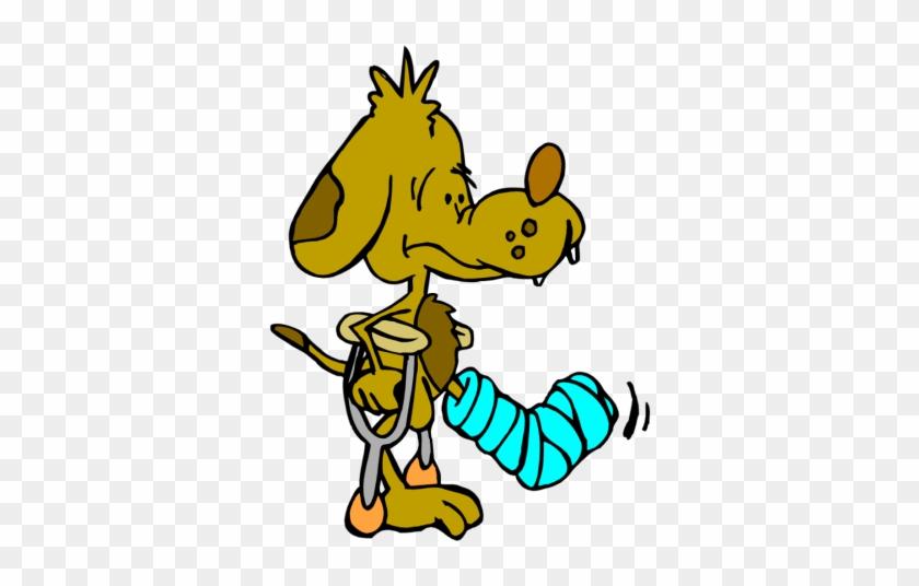 Dog Leg Clipart Injury Clip Art Library - Hurt Dog Clip Art #12685