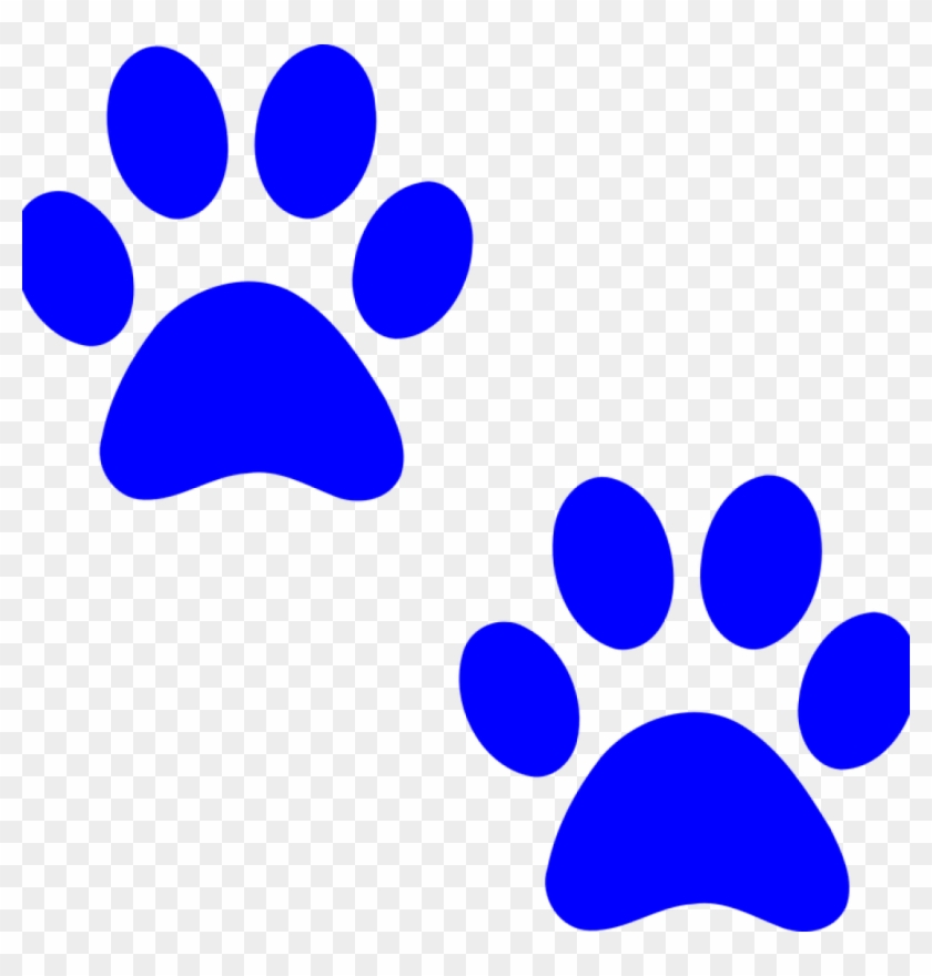 Dog Paw Clip Art Paw Prints Dog Free Vector Graphic - Blue Paw Print Clip Art #12678