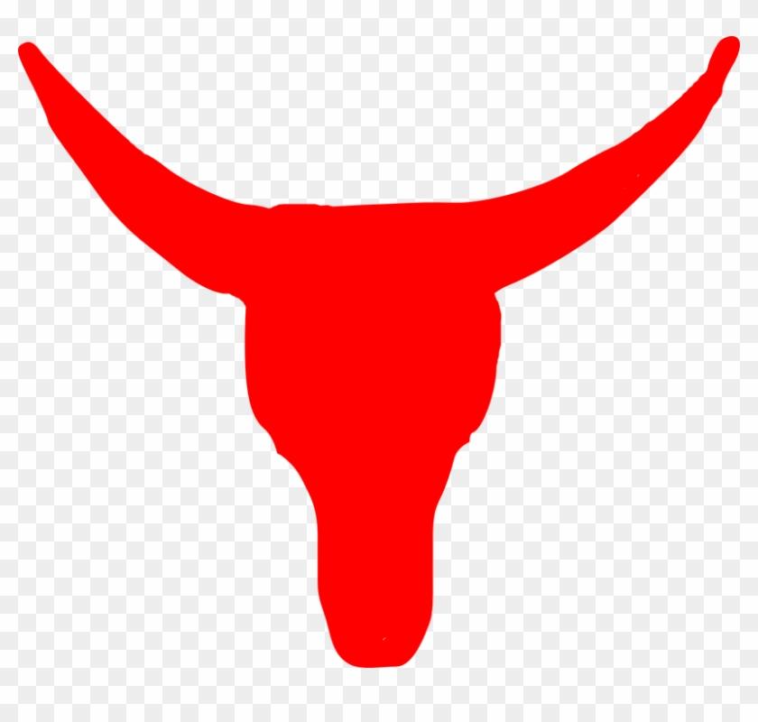 Longhorn Cattle Clipart Bull Horn - Red Bull Clipart #12705