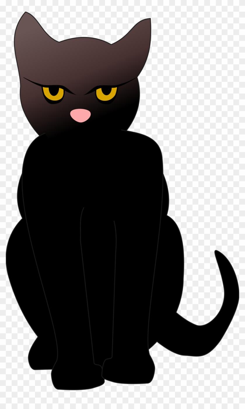 Clipart Cat Transparent Silhouette Clip Art Library - Black Cat Clip Art #12717