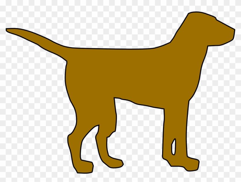 Dog Silhouette Clip Art - Simple Dog Clipart #12725