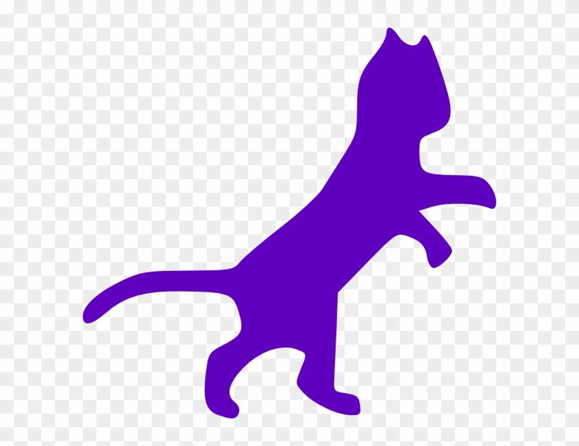 Purple Cat Dancing Clip Art - Cat Clip Art #12752