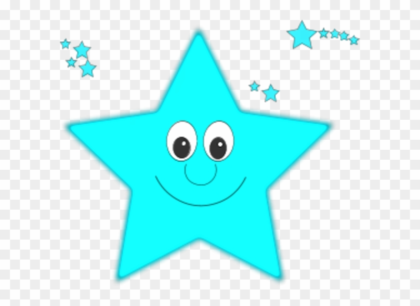 Smiling Faces Clipart - Blue Smiling Star Clipart #12761