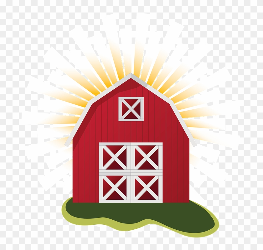 Farm Barn Clip Art Clipart Clipartcow - Red Barn Clip Art #12753