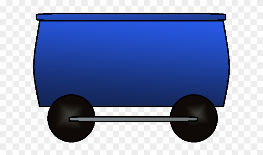 Railroad Clipart Train Car Pencil And In Color Rail - Blue Train Car Clipart #12785