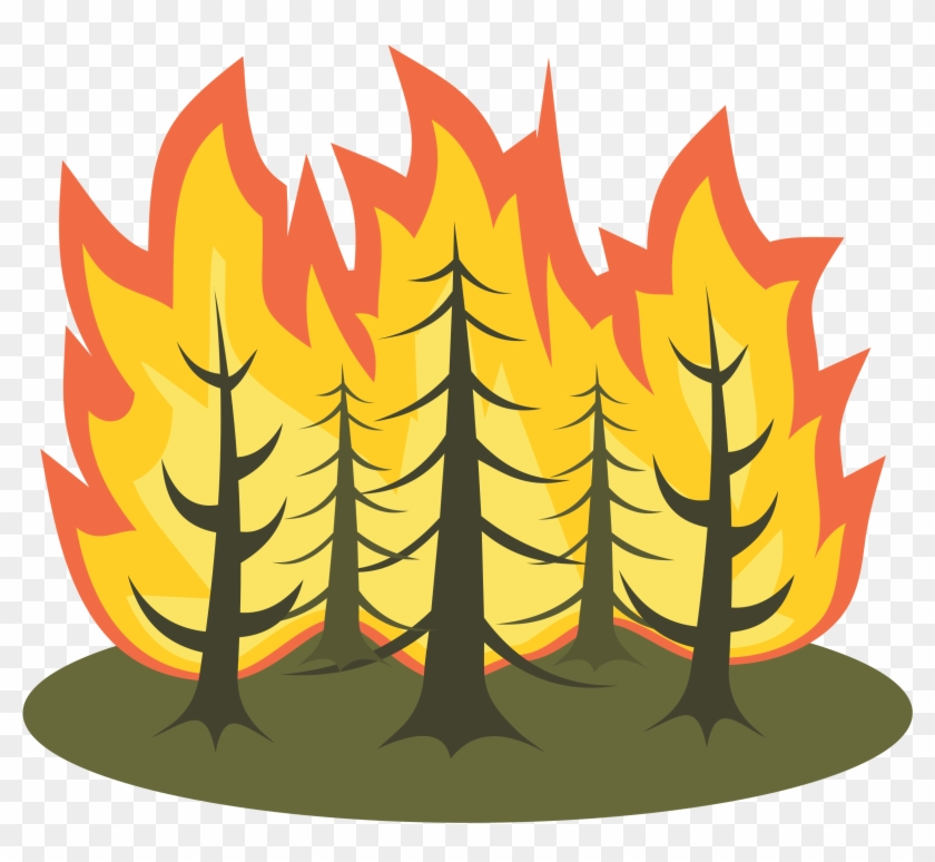 Clipart - Forest Fire Clipart #12811