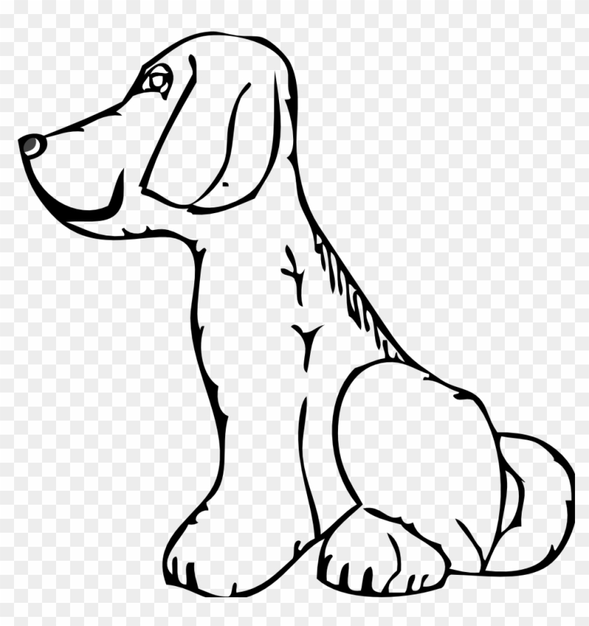 Cat Black And White Dog Black And White Dog Cat Clipart - Side View Of A Dog #12804