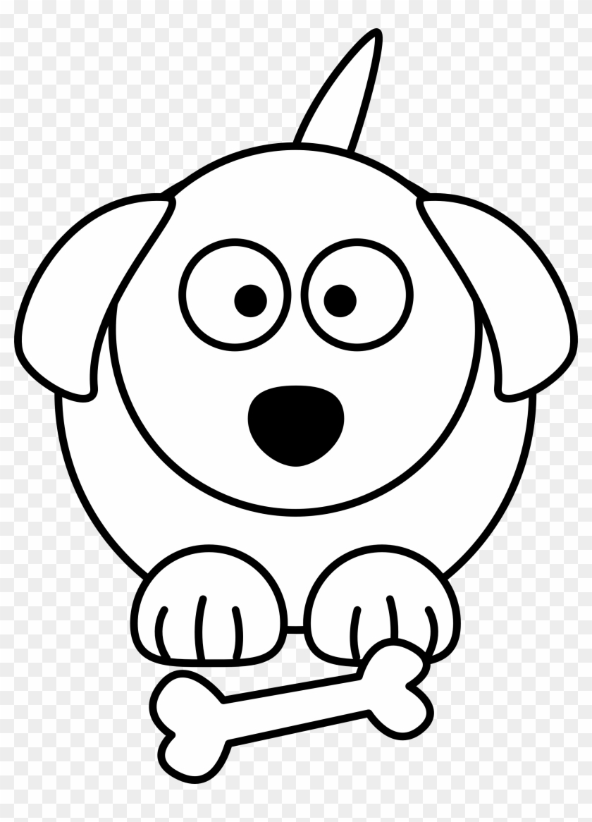 Clip Art Animal Drawings Black And White Of Animals - Cartoon Dog Black And White #12810