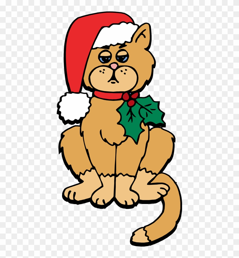 Christmas Cat Clip Art - Christmas Cat Clipart Free #12839