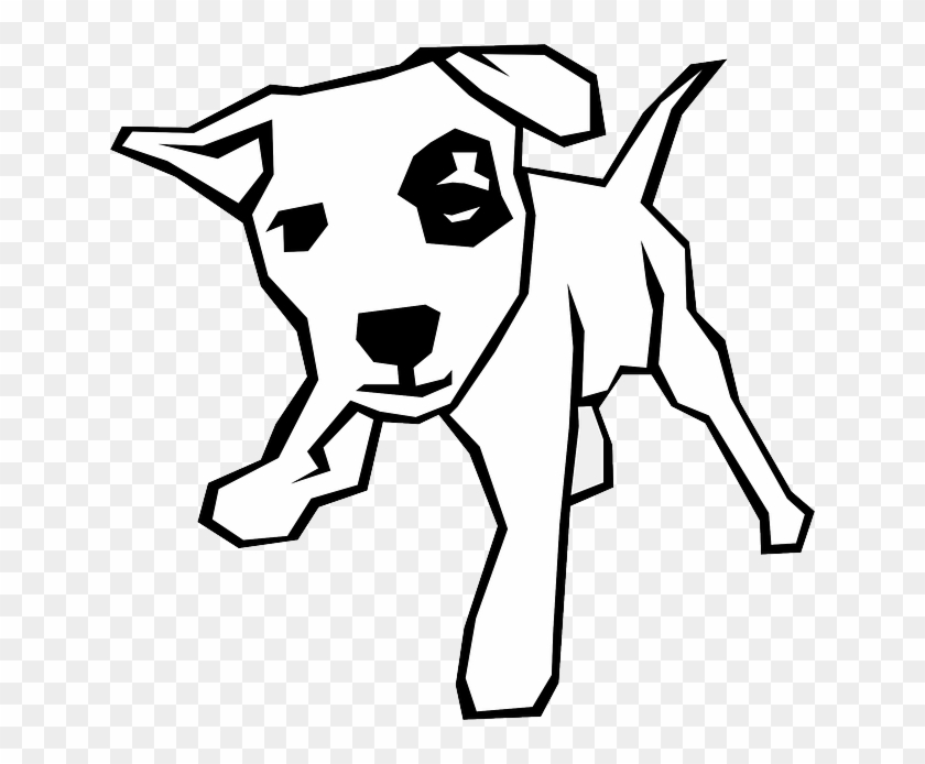 Black And White Dog Drawing #12843