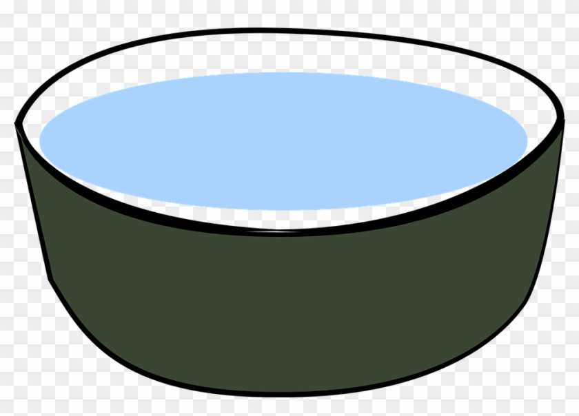 Dog Bowl Free Vector Graphic Bowl Water Drink Dog Pet - Water Bowl Clip Art #12845