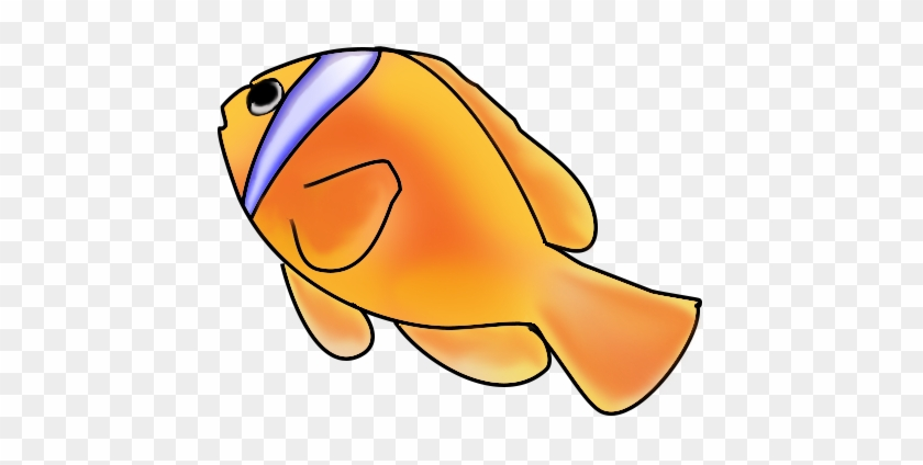 Clownfish Fish Clip Art - Fish Swimming Up Clipart #12892