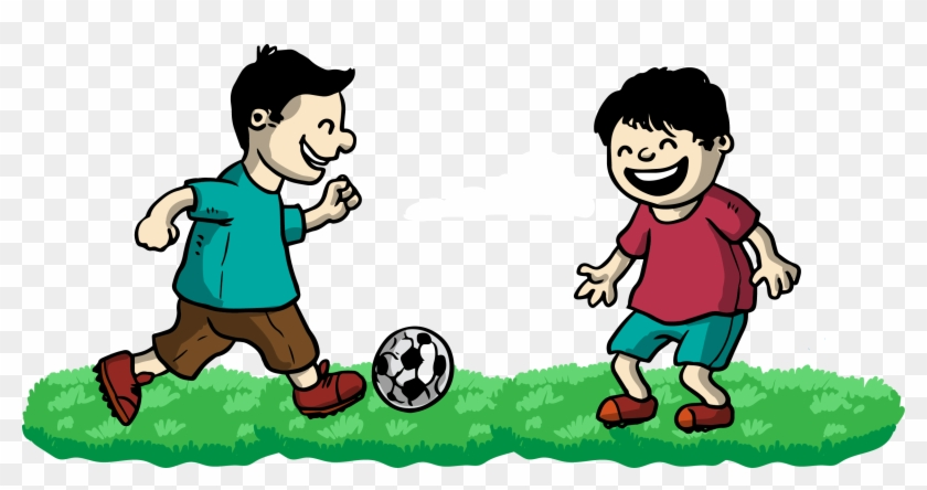 Football Clip Art - Playing Football With Friends Clipart #12900