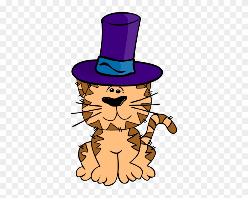 Cat In A Hat Clip Art At Clker - Cat With A Hat Cartoon #12901