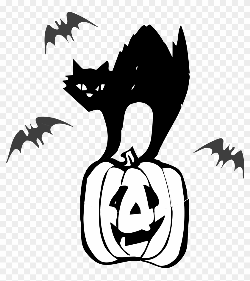 Clip Art Black Cat Halloween Clipart Architetto Gatto - Black Cat Clipart Halloween #12915