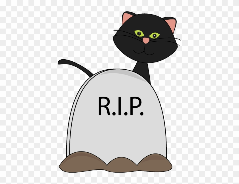 Black Cat And Tombstone - Pet Tombstone Clipart #12936