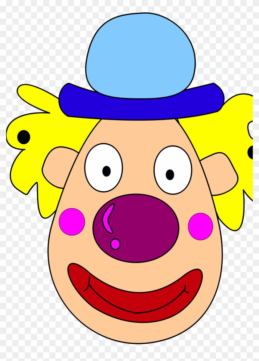 299 Evil Clown Clipart Free - Clown Head Clipart #12976