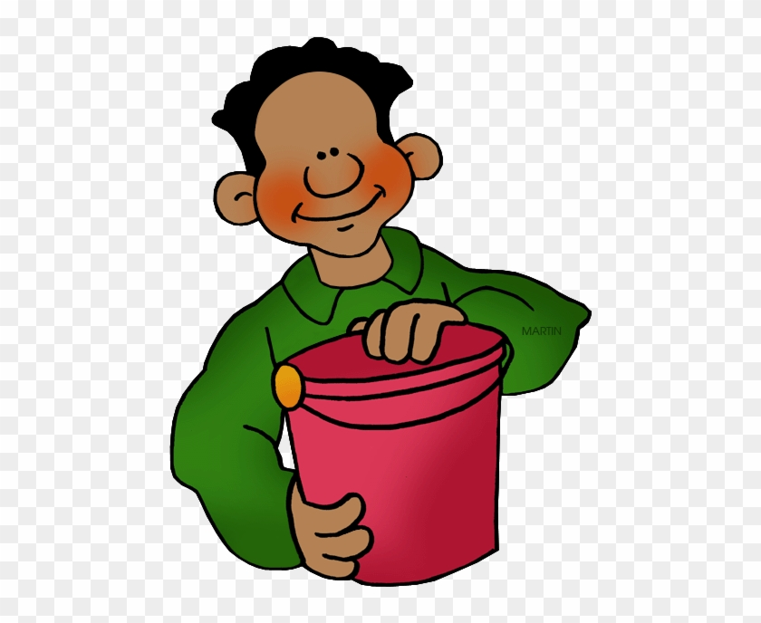 Bucket - Phillip Martin Clipart Boy #12979