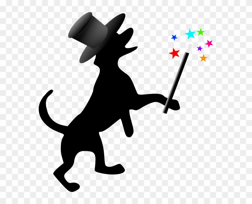 Dog Silhouette With Hat Wand Clip Art - Rescued Is My Favorite Breed Mugs #12978