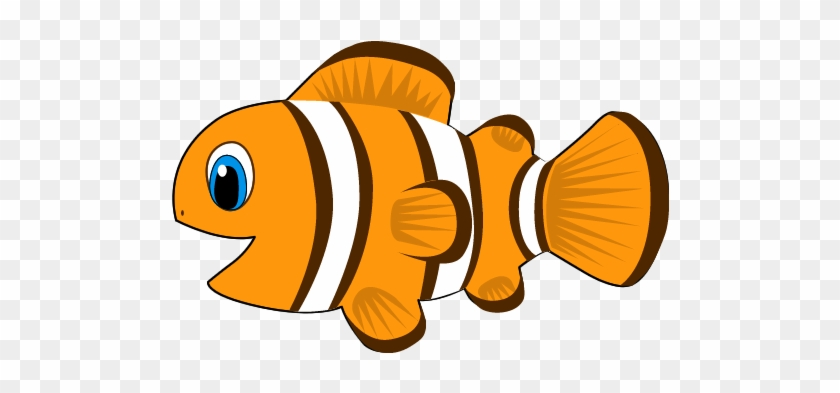 Clownfish Clipart Animated Pencil And In Color Clownfish - Cartoon Of Fish #12989