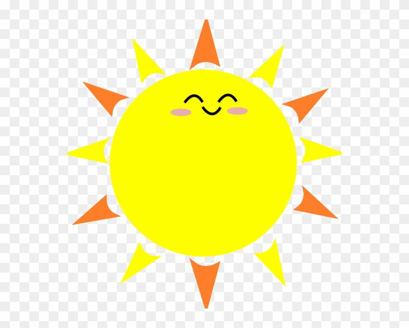 Happy Sun Clip Art At Clker - Cartoon Sun With Black Background #12987