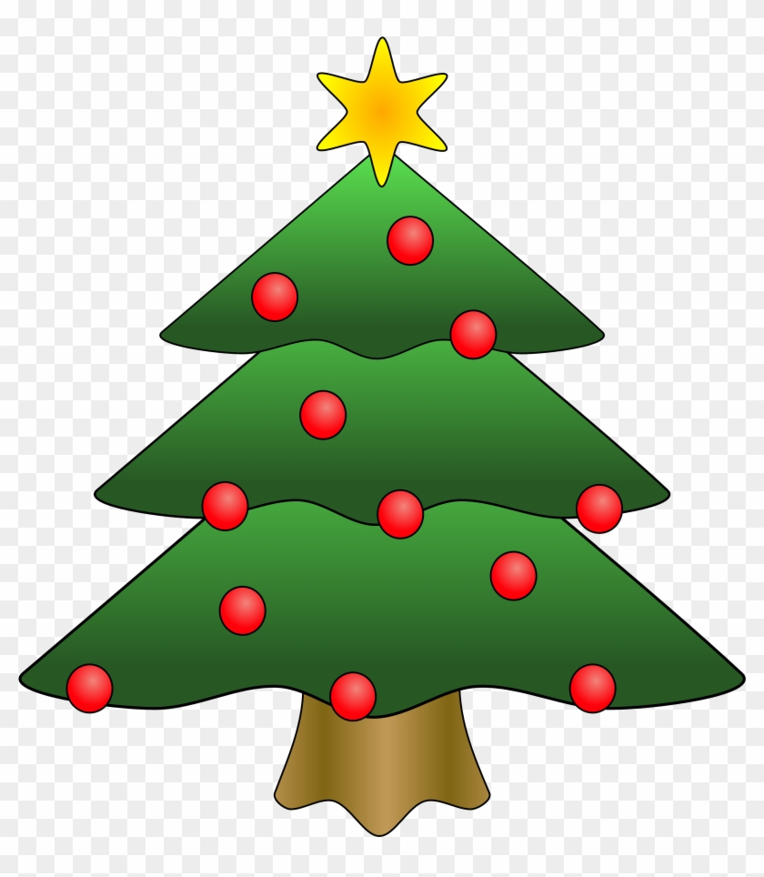 Clipart - Christmas - Tree - With - Presents - Christmas Tree Clip Art Free #13024